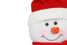 Macro Snowman Face