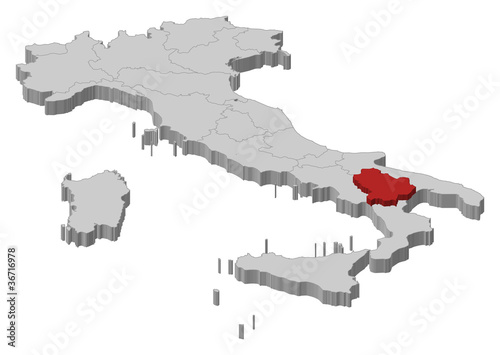 Map Of Italy Basilicata Highlighted Buy This Stock Vector And