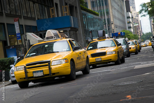 Fotografie, Tablou taxi a New York