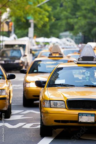 Fototapeta miasto nyc-taxi