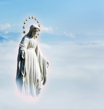 Blessed Virgin Mary At The Sky