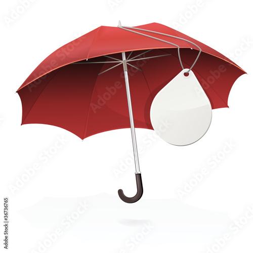 acheter pas cher 51642 2fa8b Parapluie rouge et son étiquette ronde vierge (reflet) - Buy ...