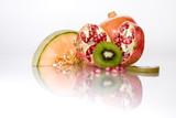Fototapeta Kwiaty - owoce