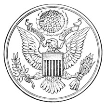 Web Art Design First Great Seal Of United States Of America 001