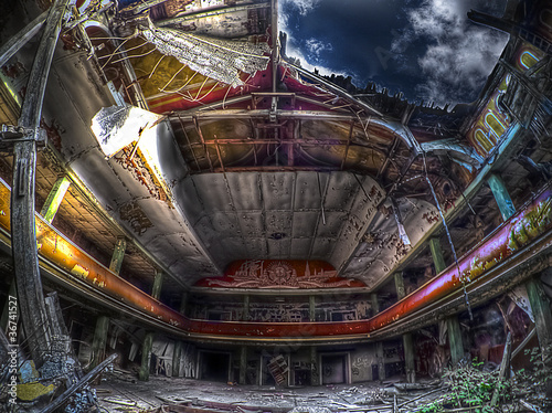 Photo  abandoned theater