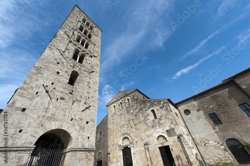 Fotografie, Tablou  Anagni (Frosinone, Lazio, Italy) - Medieval cathedral and belfry