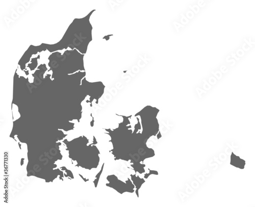 Map of Danmark Wallpaper Mural