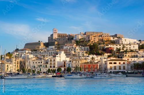 Fotografía  Ibiza Eivissa town with blue Mediterranean