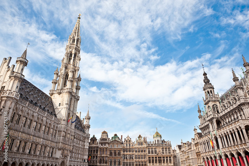 Poster Brussel Grand Place in Brussels Belgium