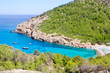Ibiza Port de Benirras beach turquoise color