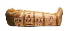 Egyptian Sarcophagus Isolated ...