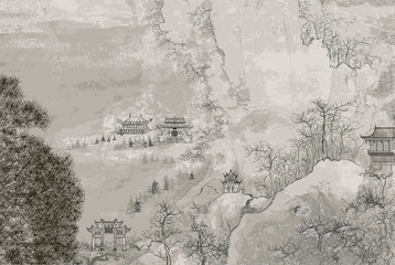Fototapeta Chinese landscape