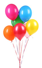 Bright Balloons Isolated On Wh...