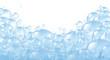 canvas print picture - Bubbles foaming bath suds