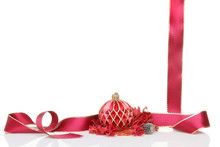 Christmas Bauble Ribbon And Potpourri