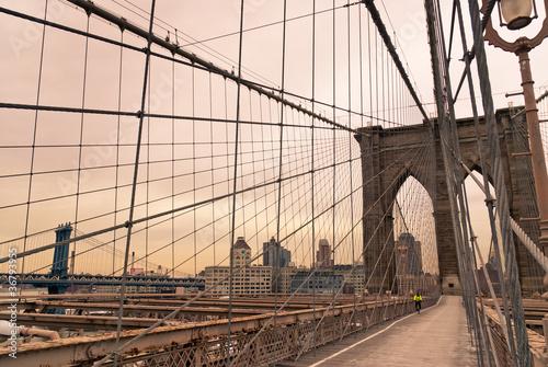 Foto op Canvas Brooklyn Bridge ponte di Brooklyn - New York