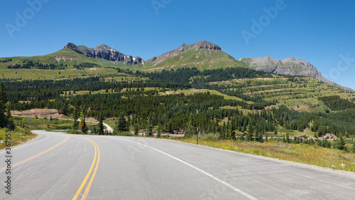 Fotografie, Obraz  Million Dollar Highway at Molas Pass, Colorado