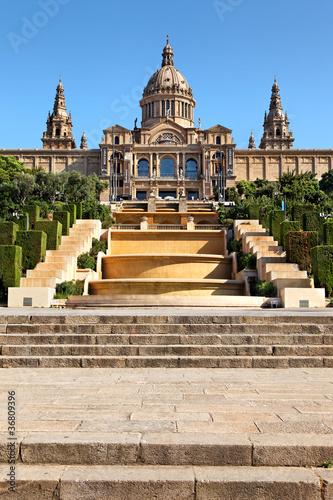 Obrazy Barcelona  palac-narodowy-barcelona-hiszpania
