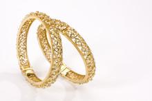 Diamond Studded Gold Bangles, Jewelry, Rajasthan, Royal India