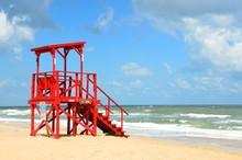 Empty Life Guard Stand Florida