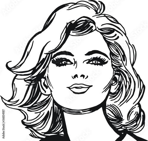 Fotografie, Obraz  rostro de una mujer hermosa