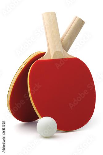 Foto-Schmutzfangmatte - Ping-pong rackets and ball (von Sergey Skleznev)