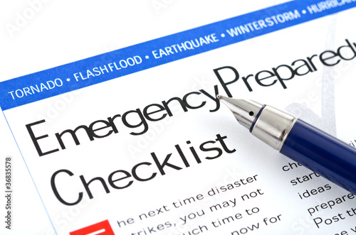 Fotografía  Emergency Preparedness Checklist