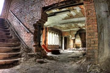Fototapeta na wymiar Decay. Abandoned City Methodist Church.