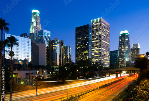 Papiers peints Los Angeles Los Angeles downtown at night
