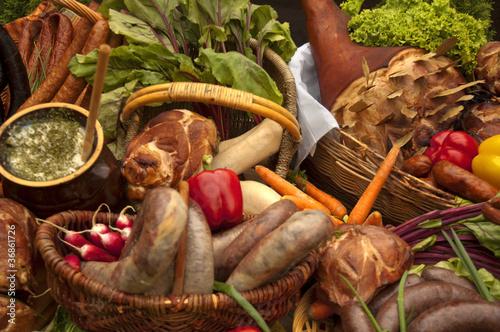 Obraz na plátně wiejskie jedzenie