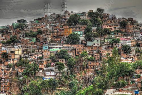 Fotografija  Slum of Brazil. Favela.