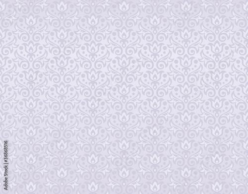 seamless pattern of pearl flowers and leaves © anastasia_art