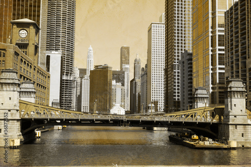 Vintage Picture Effect - Chicago #36872552