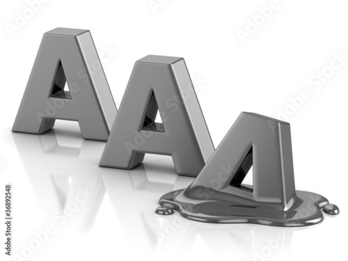 Aaa Credit Rating Downgrade Buy This Stock Illustration And