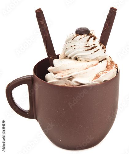 In de dag Milkshake Chocolate coffee cup