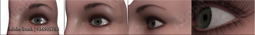 Fényképezés  occhio visualizzazione 3d iride cornea
