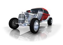 Hot Rod Automobile Rouge 3D