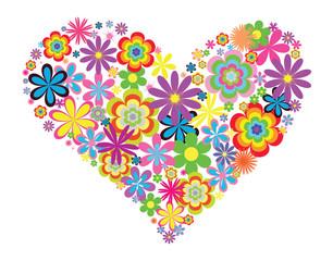 flowers heart illustration