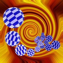 Blue Checkered Balls