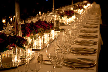 Elegant Candlelight  Dinner Ta...