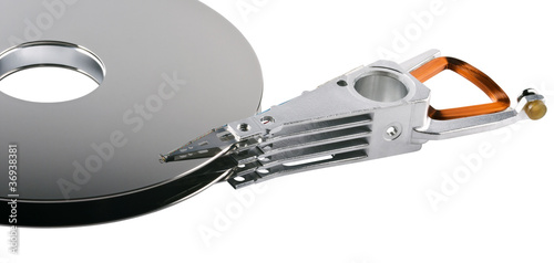 hard disk platter and actuator arm Fototapete