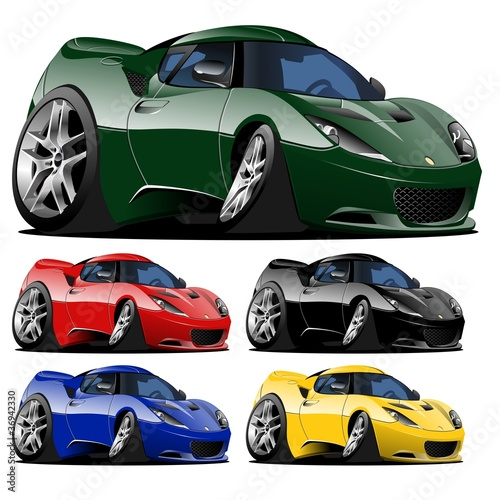 Recess Fitting Cars vector cartoon car one click repaint