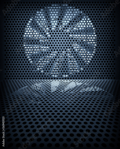 Fényképezés  Fan turbine background
