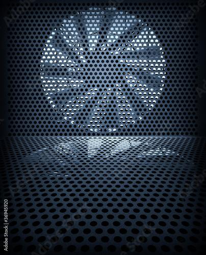 Fotografija  Fan turbine background