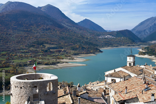Lake Barrea landscape, Abruzzo, Italy Wallpaper Mural