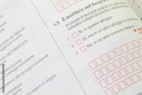 Photo  questionario censimento