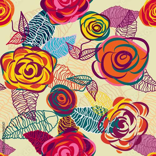 Keuken foto achterwand Abstract bloemen Roses texture