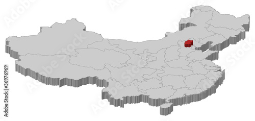 Map Of China Beijing Highlighted Buy This Stock Vector And