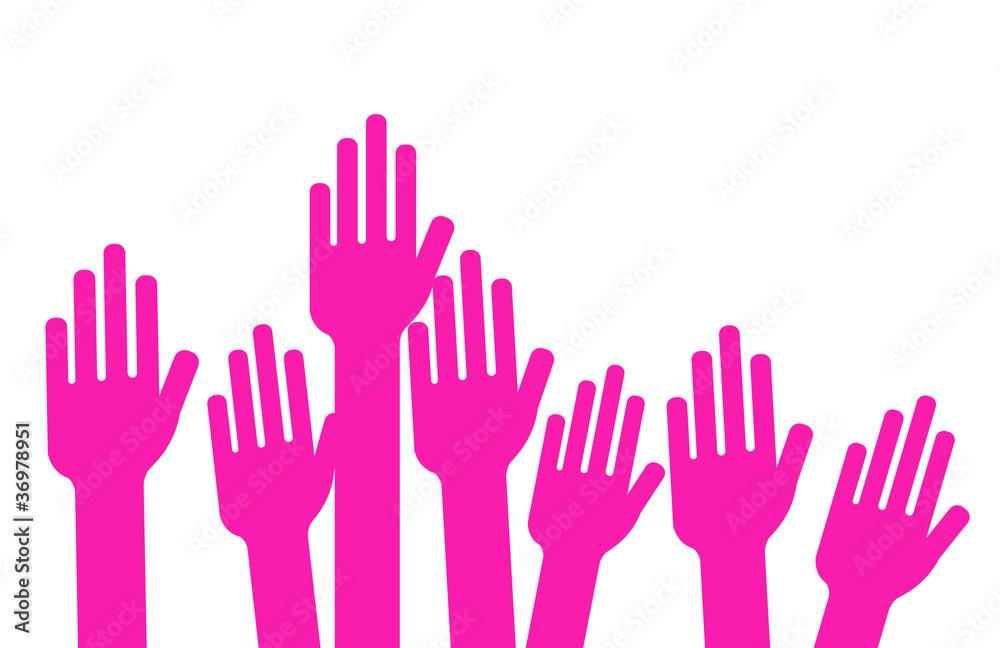 Fototapety, obrazy: girl power - vote des femmes