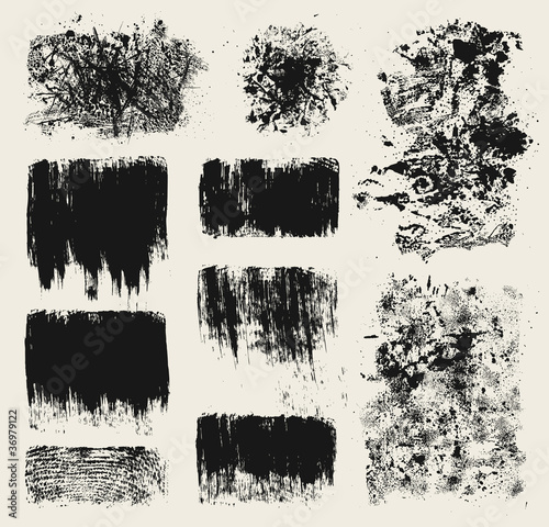 Fotografie, Obraz  Grunge design elements
